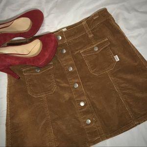 Rhythm brown corduroy mini skirt size Large